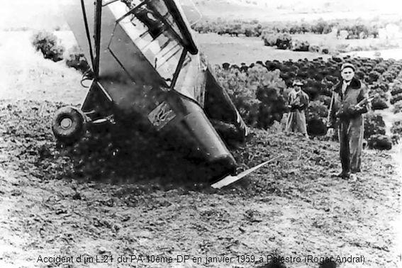 Accident dun L-21 du PA 10ème DP en janvier 1959 à Palestro (Roger Andral)