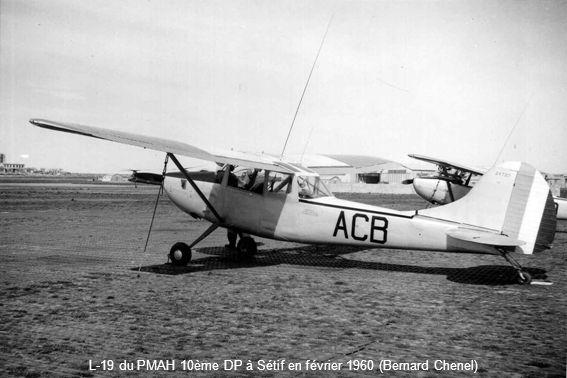 L-19 du PMAH 10ème DP à Sétif en février 1960 (Bernard Chenel)