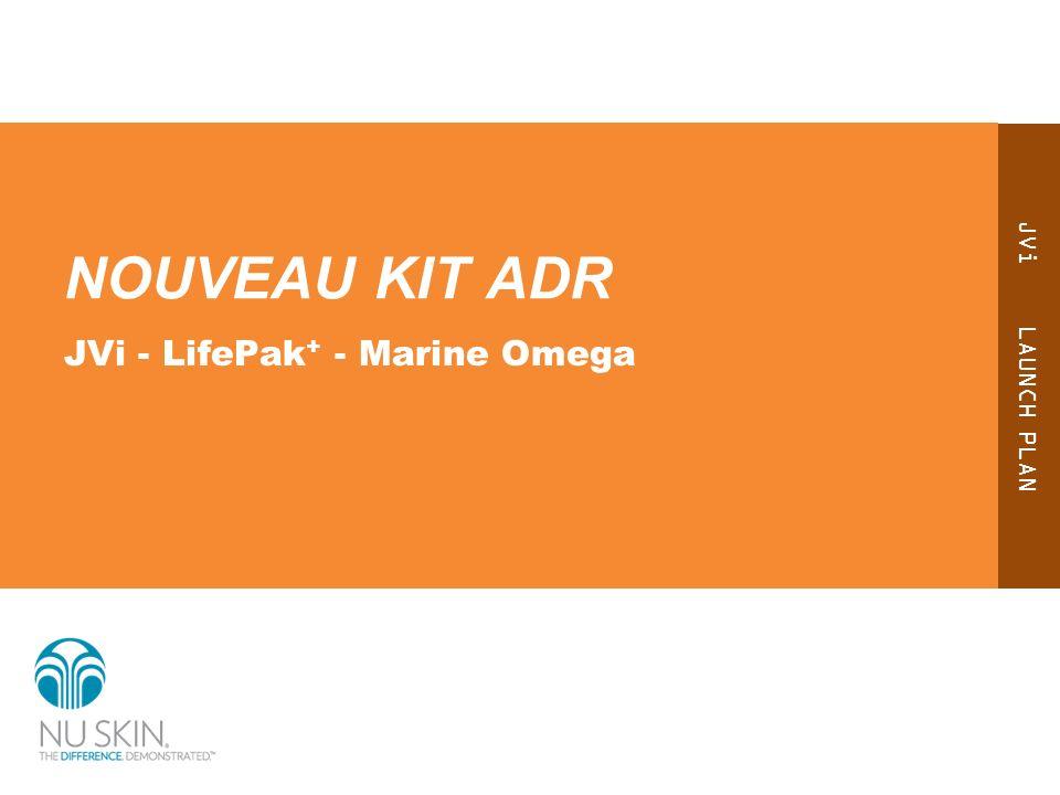 Tous vos nutriments clés en 1 kit ADR Profitez des bienfaits complémentaires de JVi, LifePak + et Marine Omega*.