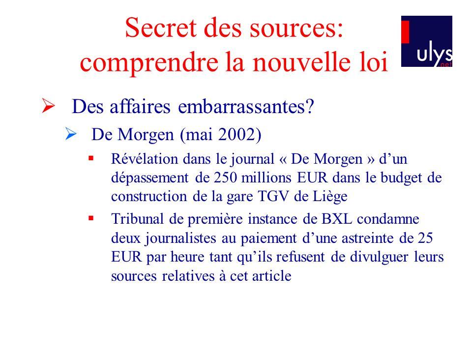 Secret des sources: comprendre la nouvelle loi Protection et reconnaissance internationale Article 10 CEDH 1.