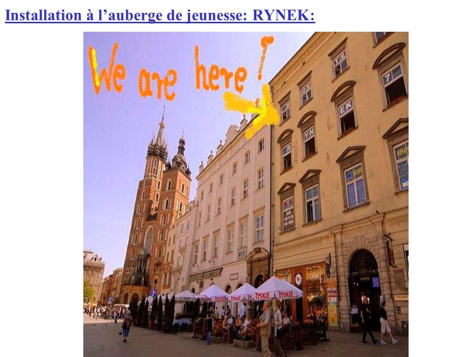 Installation à lauberge de jeunesse: RYNEK: