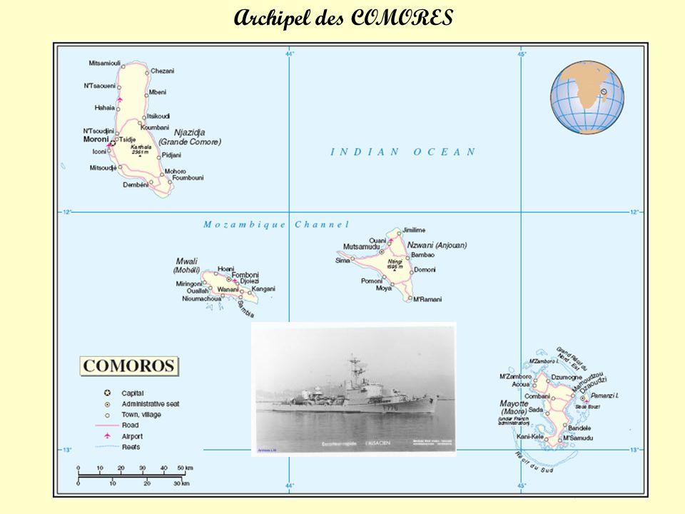 2 mai 1966 12.00h.Appareillage pour « Les Comores » 3 mai 1966 08.00h.
