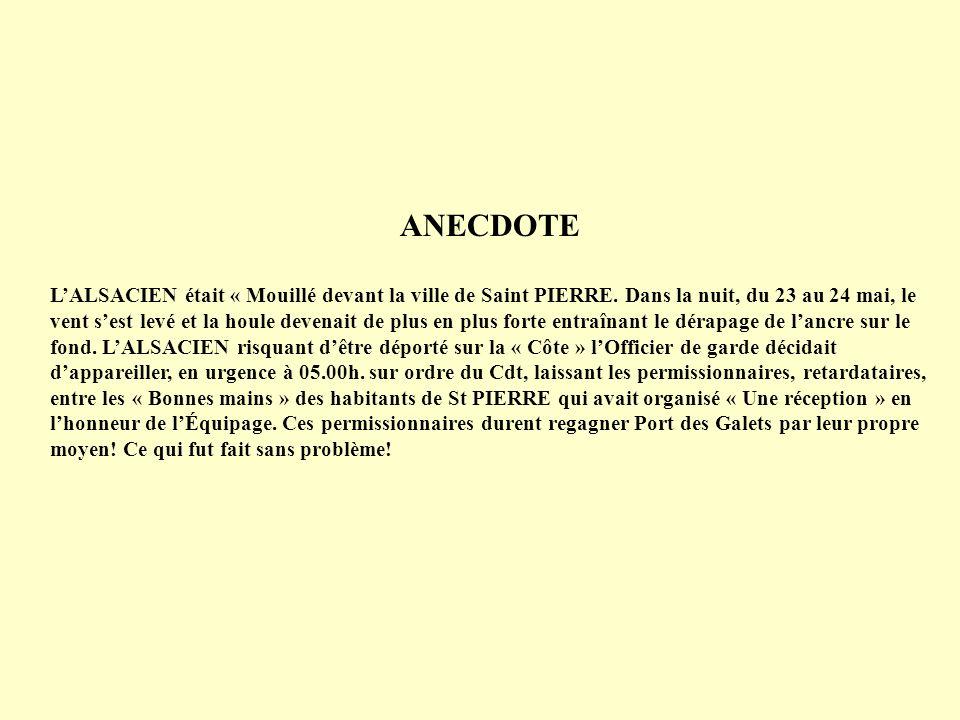 23 mai 1966 07.00h.Appareillage vers St PIERRE. Mouillage à 10.00h.