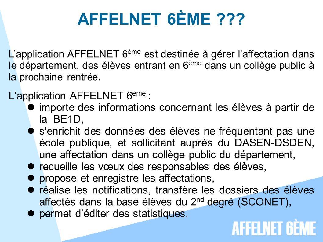 AFFELNET 6ÈME ??.