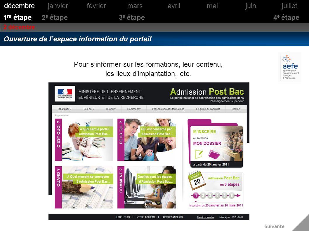 Sinformer à partir de la page daccueil du portail 1 re étape Les différents onglets/rubriques de la page daccueil du site informent sur : Cest quoi ?Pour qui ?Quand ?Comment .