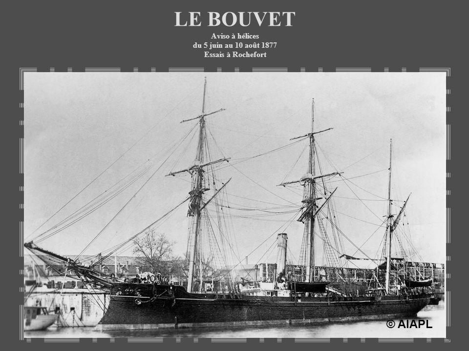 LE BOUVET Aviso à hélices du 5 juin au 10 août 1877 Essais à Rochefort © AIAPL