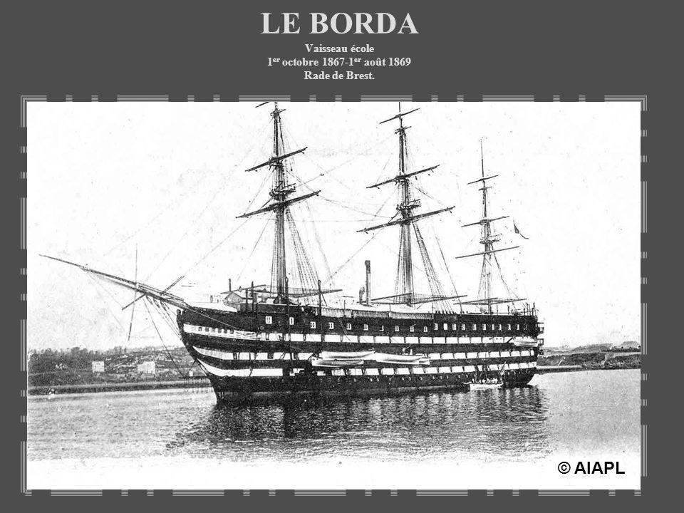 LE BOUGAINVILLE Aviso à hélice annexe du BORDA Du 4 au 29 août 1868, Croisière dacclimatation des élèves, sur les côtes de Brest à La Rochelle.