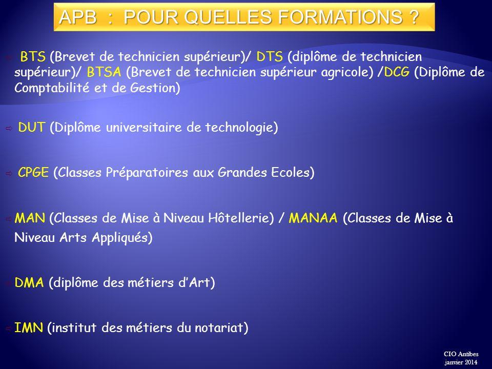 BTS (Brevet de technicien supérieur)/ DTS (diplôme de technicien supérieur)/ BTSA (Brevet de technicien supérieur agricole) /DCG (Diplôme de Comptabil