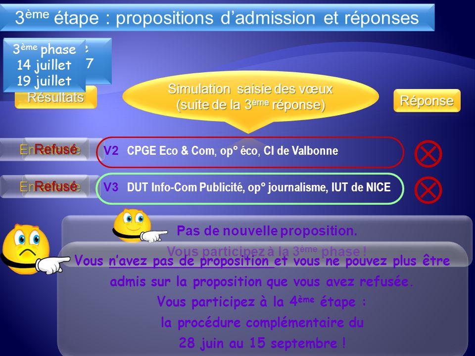 V3 DUT Info-Com Publicité, op° journalisme, IUT de NICE V2 CPGE Eco & Com, op° éco, CI de Valbonne