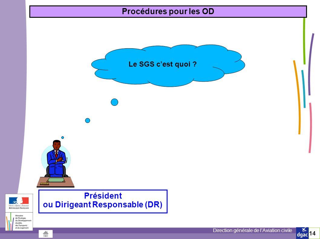 Direction générale de lAviation civile 14 Procédures pour les OD Le SGS cest quoi .