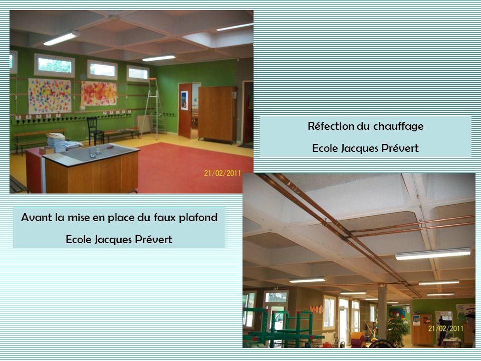 Avant la mise en place du faux plafond Ecole Jacques Prévert Réfection du chauffage Ecole Jacques Prévert