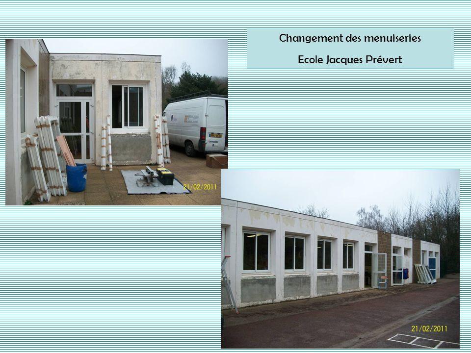 Changement des menuiseries Ecole Jacques Prévert