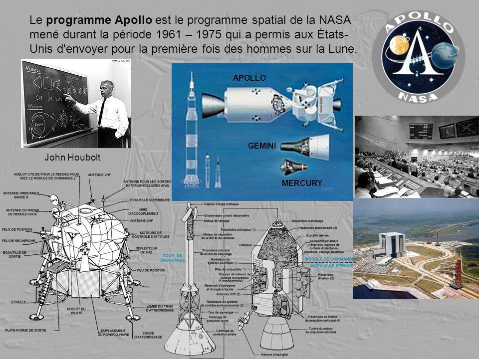 Le programme Apollo est le programme spatial de la NASA mené durant la période 1961 – 1975 qui a permis aux États- Unis d'envoyer pour la première foi