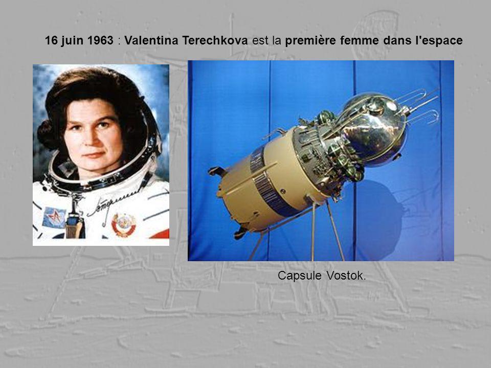 16 juin 1963 : Valentina Terechkova est la première femme dans l'espace Capsule Vostok.