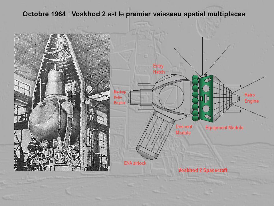 Octobre 1964 : Voskhod 2 est le premier vaisseau spatial multiplaces