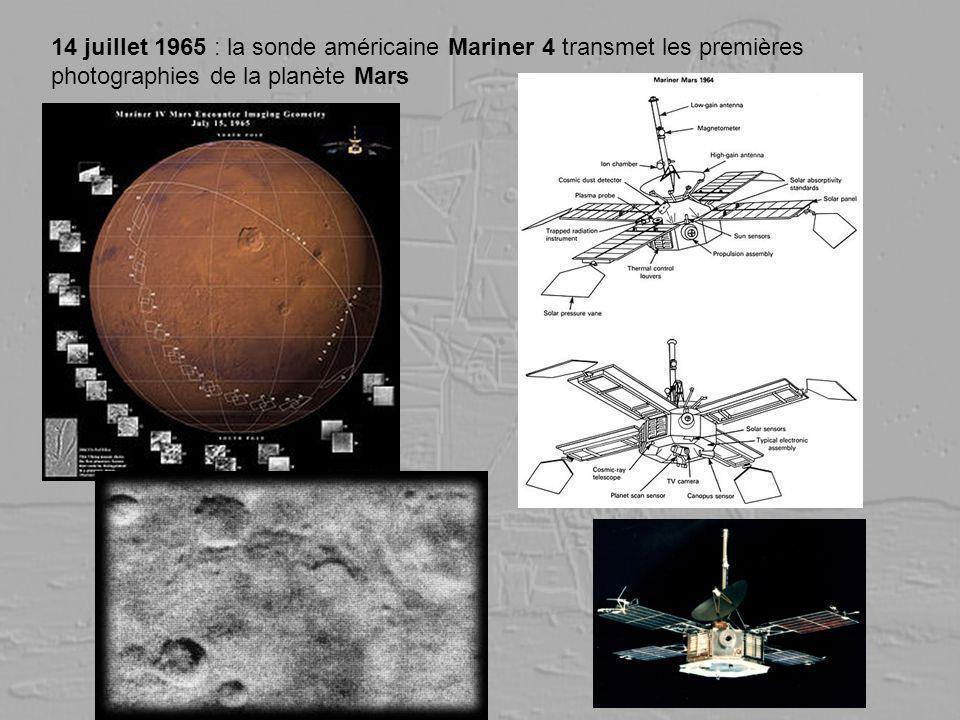 14 juillet 1965 : la sonde américaine Mariner 4 transmet les premières photographies de la planète Mars