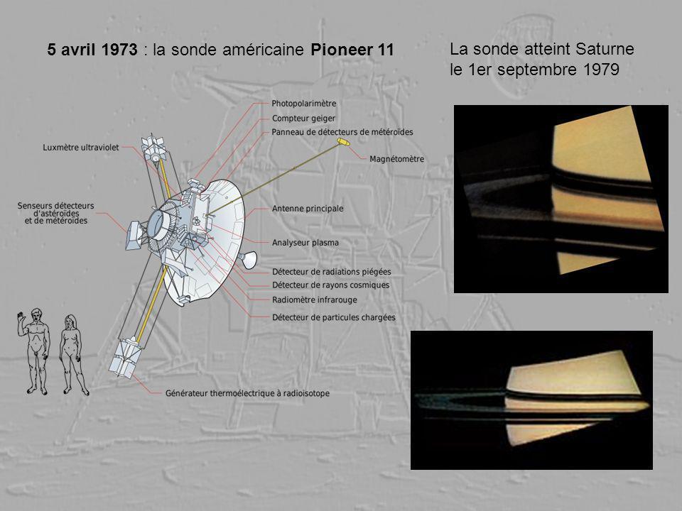 5 avril 1973 : la sonde américaine Pioneer 11 La sonde atteint Saturne le 1er septembre 1979