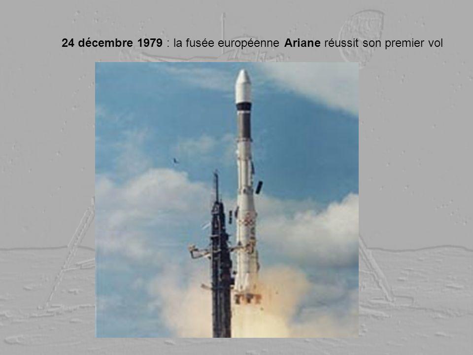 24 décembre 1979 : la fusée européenne Ariane réussit son premier vol