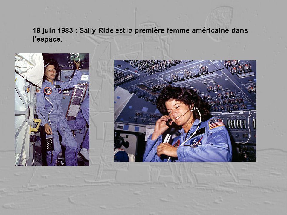 18 juin 1983 : Sally Ride est la première femme américaine dans l'espace.