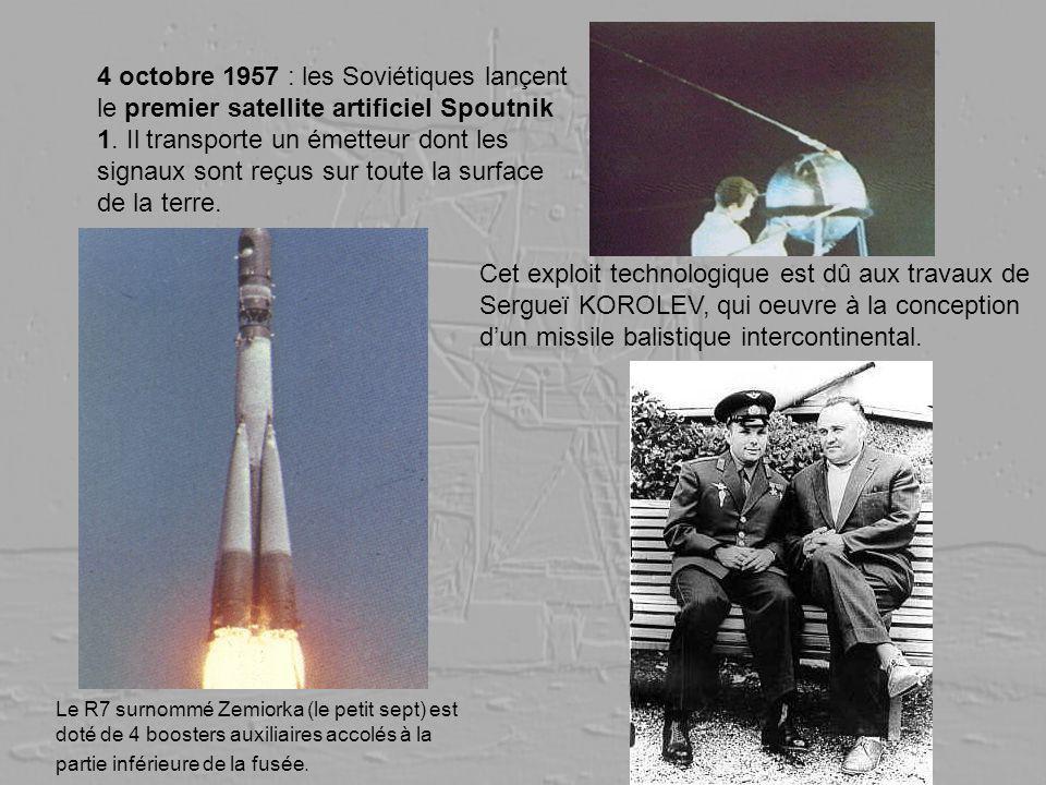 4 octobre 1957 : les Soviétiques lançent le premier satellite artificiel Spoutnik 1. Il transporte un émetteur dont les signaux sont reçus sur toute l
