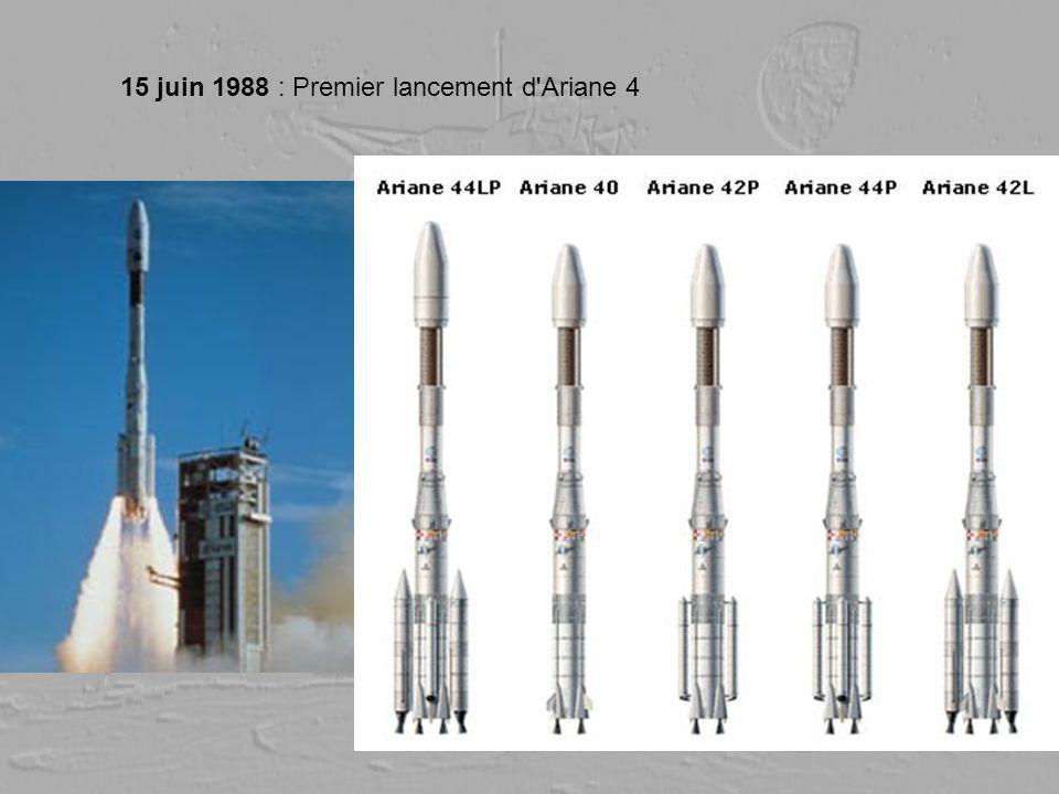 15 juin 1988 : Premier lancement d'Ariane 4
