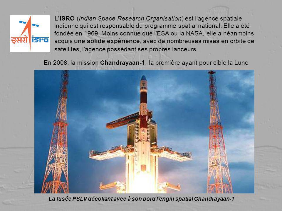 L'ISRO (Indian Space Research Organisation) est l'agence spatiale indienne qui est responsable du programme spatial national. Elle a été fondée en 196