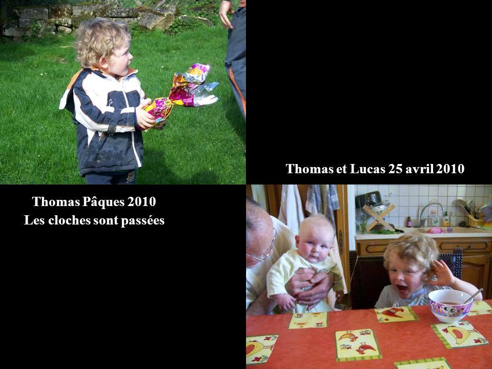 Thomas Pâques 2010 Les cloches sont passées Thomas et Lucas 25 avril 2010