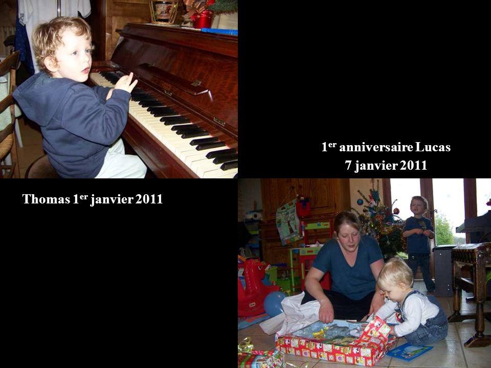 Thomas 1 er janvier 2011 1 er anniversaire Lucas 7 janvier 2011