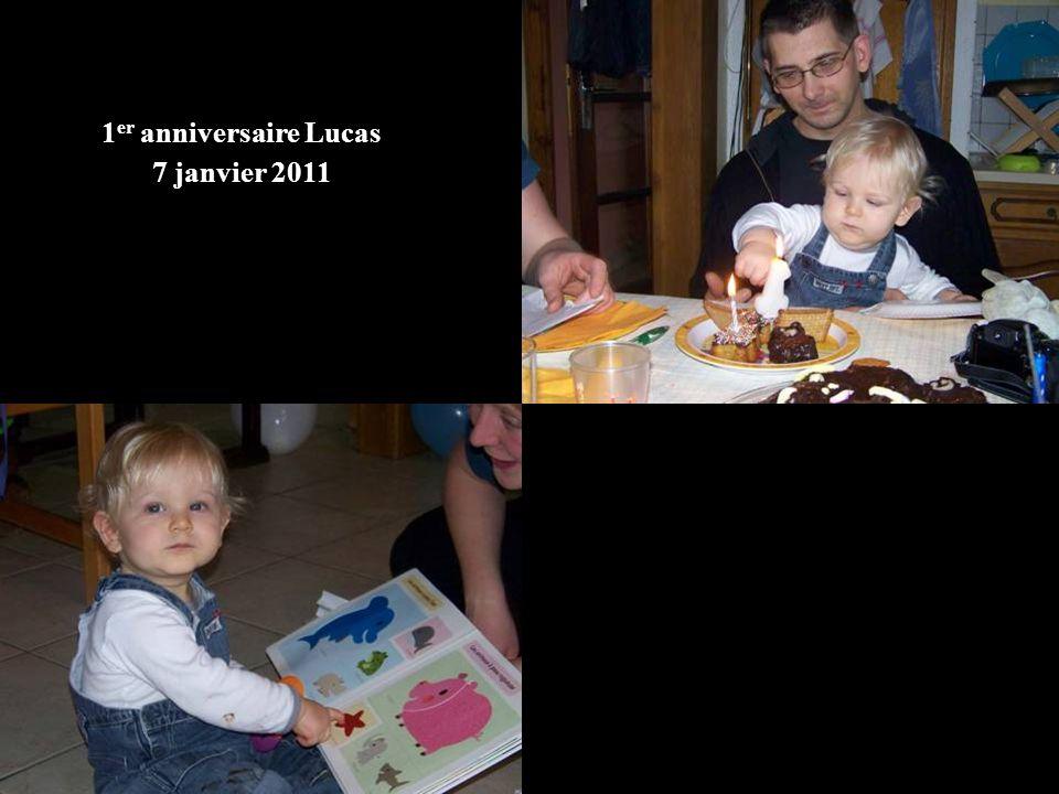 1 er anniversaire Lucas 7 janvier 2011