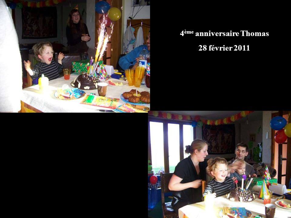 4 ème anniversaire Thomas 28 février 2011