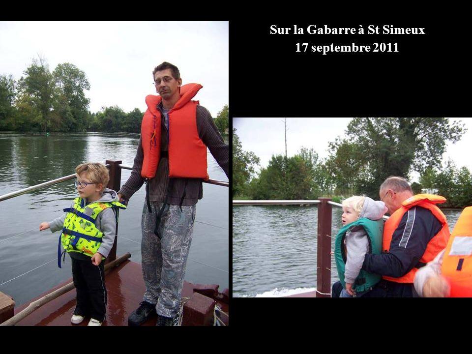 Sur la Gabarre à St Simeux 17 septembre 2011