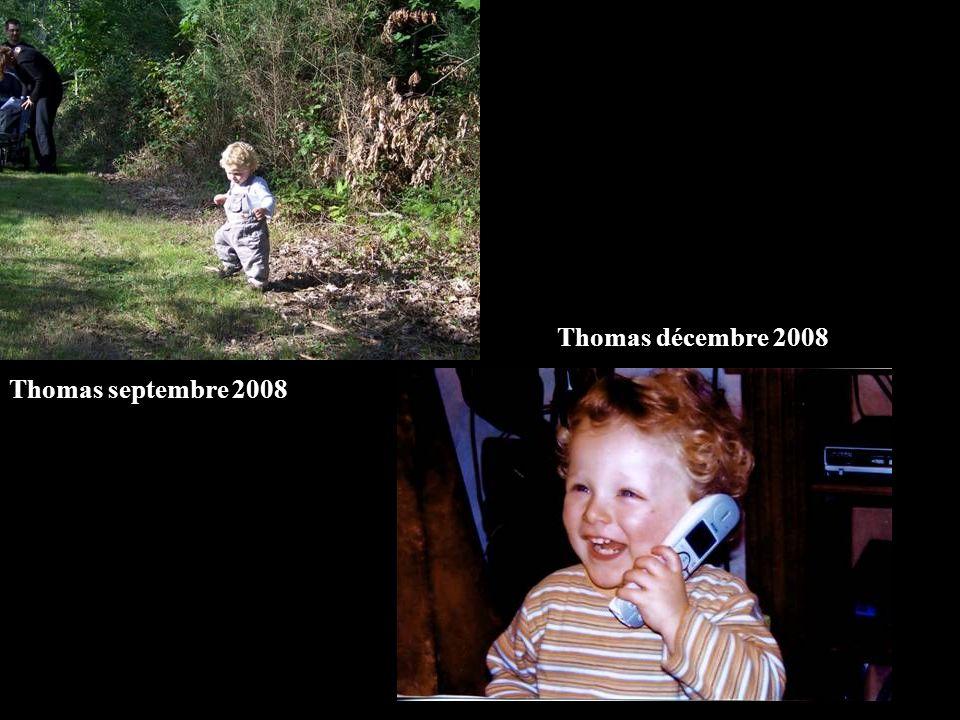 Thomas décembre 2008 Thomas septembre 2008