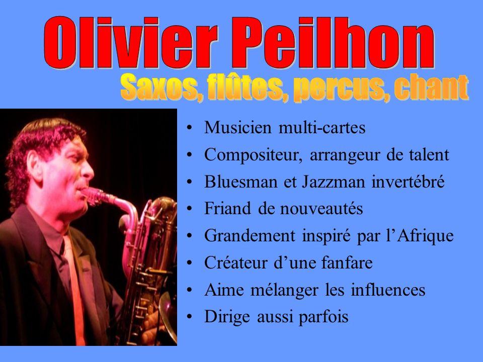 Musicien multi-cartes Compositeur, arrangeur de talent Bluesman et Jazzman invertébré Friand de nouveautés Grandement inspiré par lAfrique Créateur du