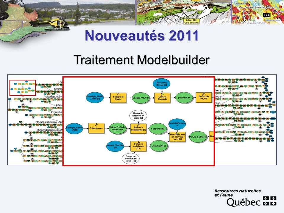 Nouveautés 2011 Traitement Modelbuilder