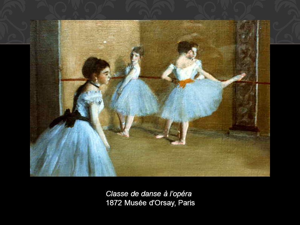 Classe de danse à lopéra 1872 Musée d'Orsay, Paris