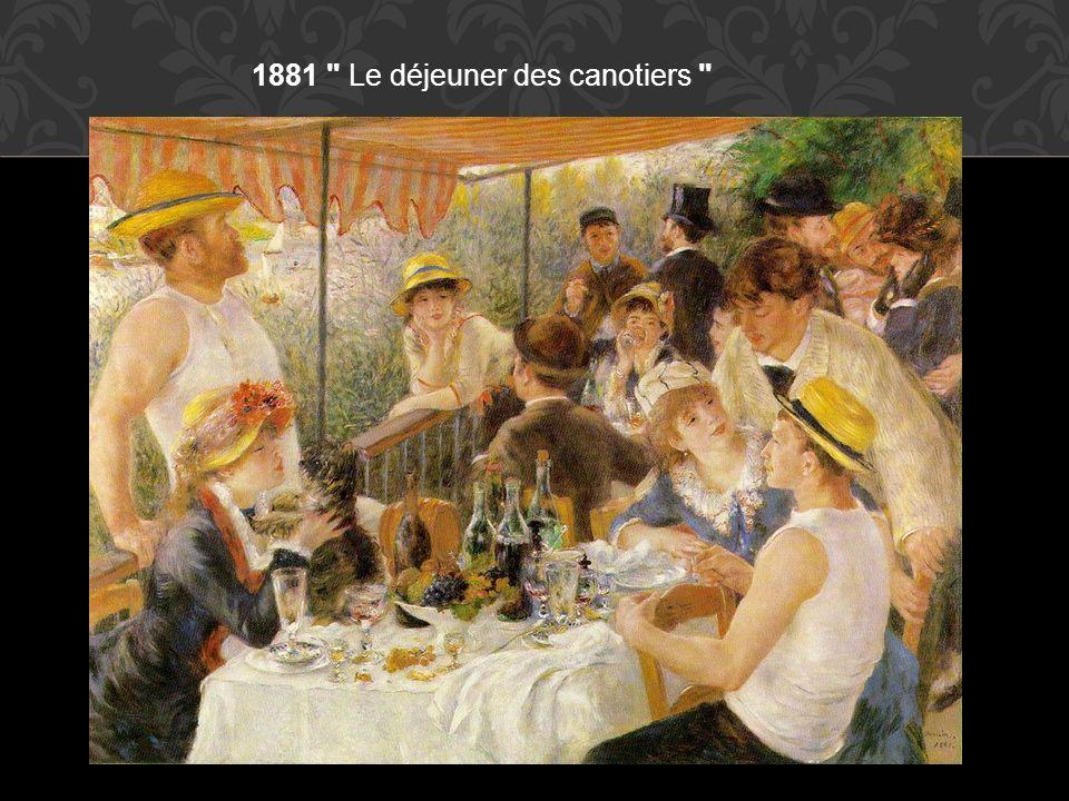 1881 Le déjeuner des canotiers
