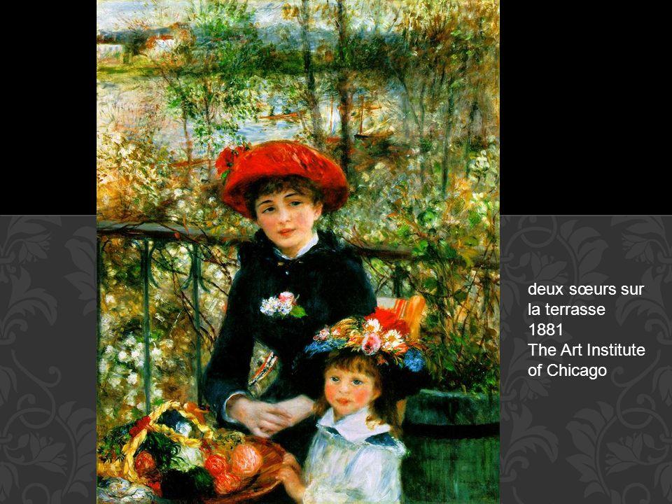 deux sœurs sur la terrasse 1881 The Art Institute of Chicago