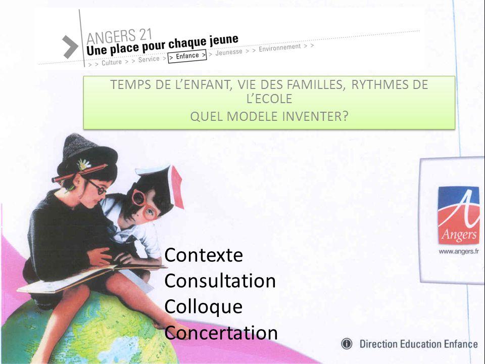 TEMPS DE LENFANT, VIE DES FAMILLES, RYTHMES DE LECOLE QUEL MODELE INVENTER.