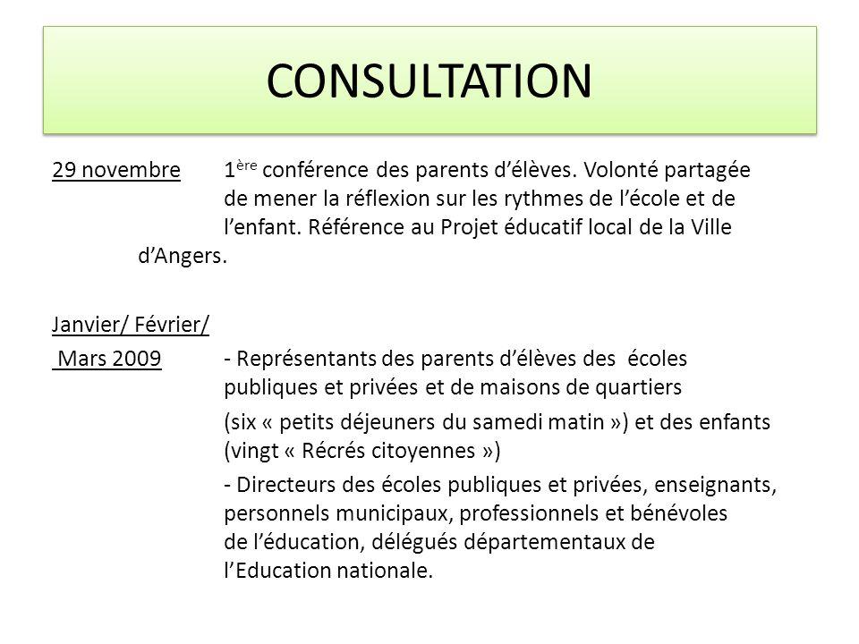 CONSULTATION 29 novembre1 ère conférence des parents délèves.