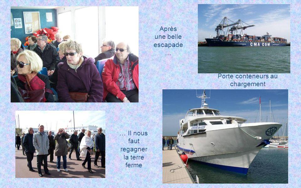 Touriste américaine incognito ! La centrale thermique La sortie du port Bon Merci !