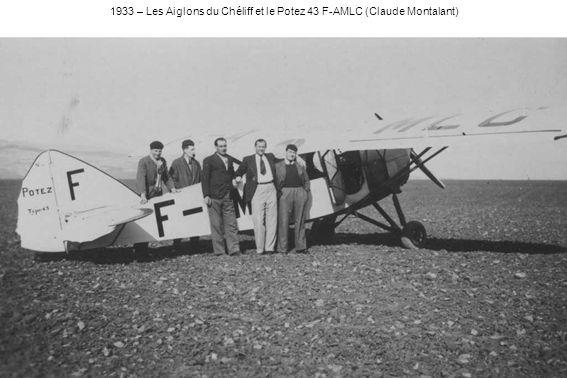1933 – Devant un Farman 402 de lENAA, Rouch et les moniteurs André Heinzelmann (de lENAA) et Jean-Marie Ruamps (Claude Montalant)