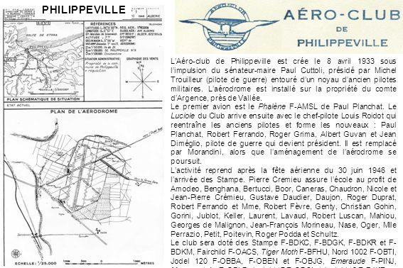 Le Potez 43 de lAéro-club de Philippeville en visite à Collo, aux Ouled Mazouz, en novembre 1934 (Albert Falcone)