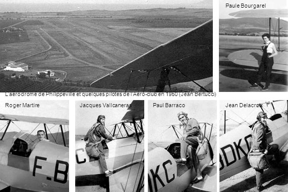 Le Stampe et le Jodel devant le hangar et lancienne aérogare (Robert Luscan)
