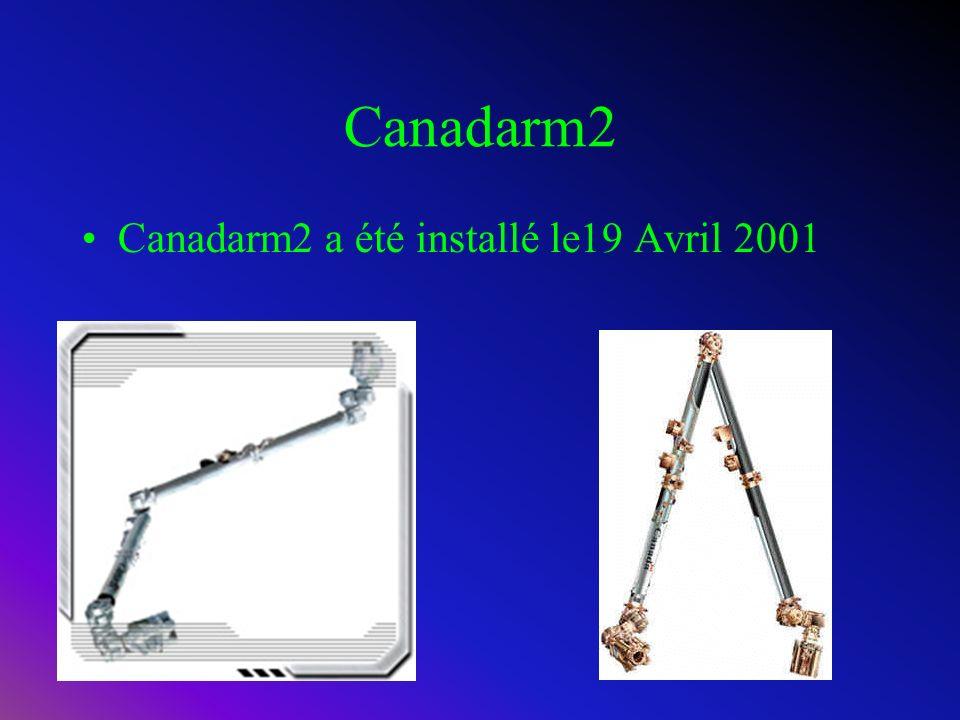 Canadarm 1 Canadarm 1 le 22 avril 2001
