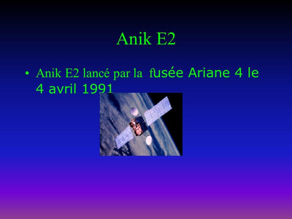 Anik E1 Anik E1 lancé par la f usée Ariane 4 le 26 septembre 1991