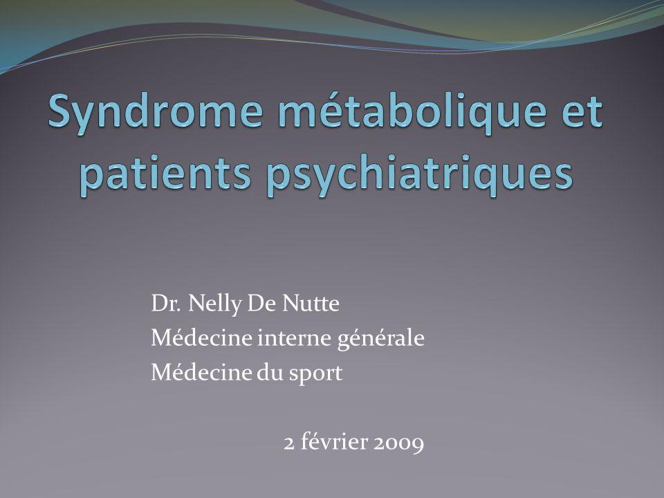 Dr. Nelly De Nutte Médecine interne générale Médecine du sport 2 février 2009