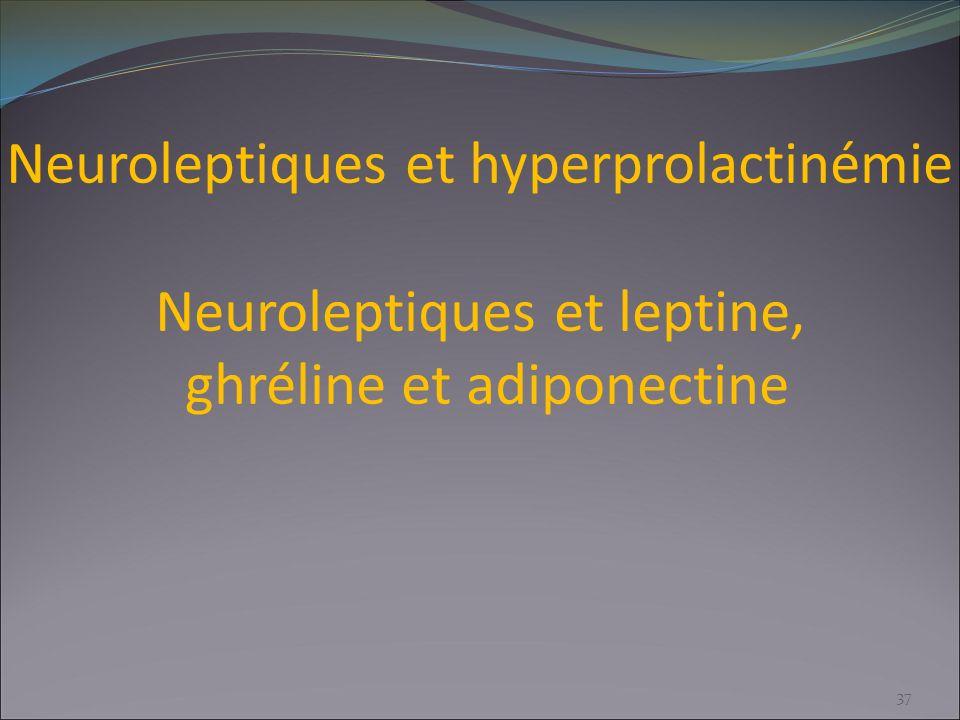 Neuroleptiques et hyperprolactinémie Neuroleptiques et leptine, ghréline et adiponectine 37