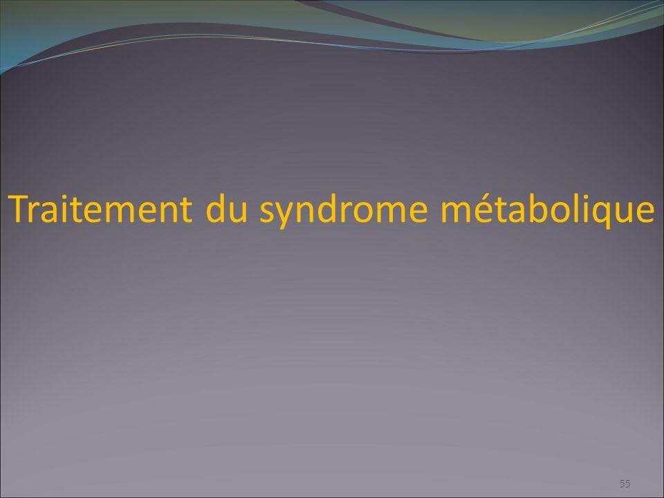 Traitement du syndrome métabolique 55