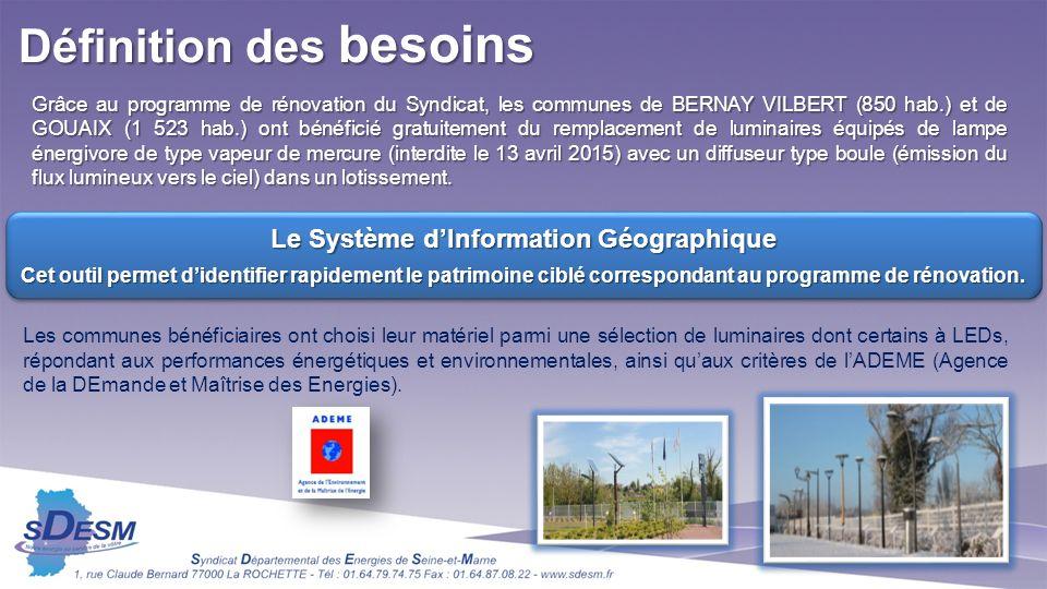 Grâce au programme de rénovation du Syndicat, les communes de BERNAY VILBERT (850 hab.) et de GOUAIX (1 523 hab.) ont bénéficié gratuitement du rempla