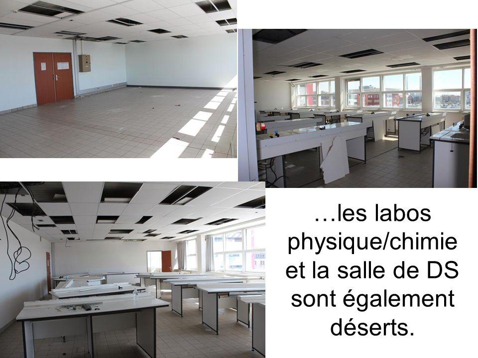 …les labos physique/chimie et la salle de DS sont également déserts.